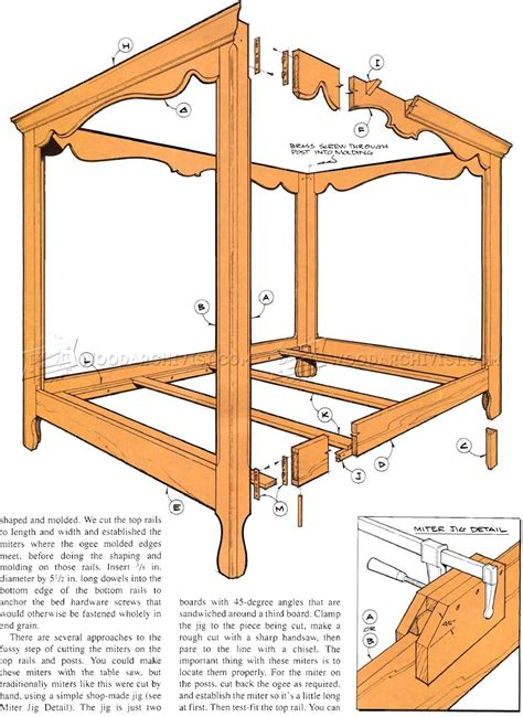poster bed plans woodarchivist