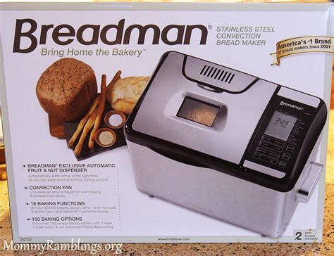 I love that the zojirushi bread machine has a little window in the lid, so you can see what is going on inside. Breadman Convection Bread Machine with Handles TR2700 ...