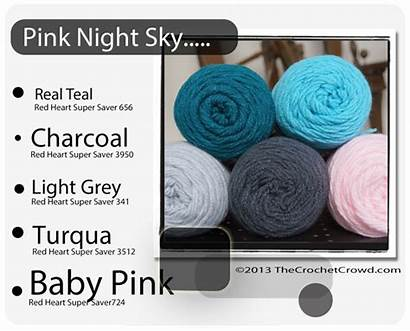 Yarn Crochet Combinations Colors Heart Chart Saver
