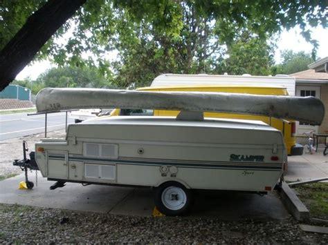 custom built canoe rack camping pinterest canoe rack