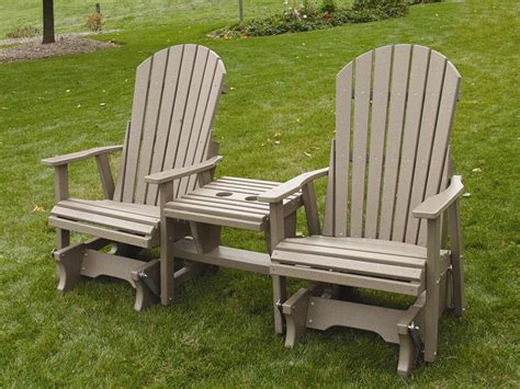 Amish Outdoor Wood And Poly Settees From Dutchcrafters
