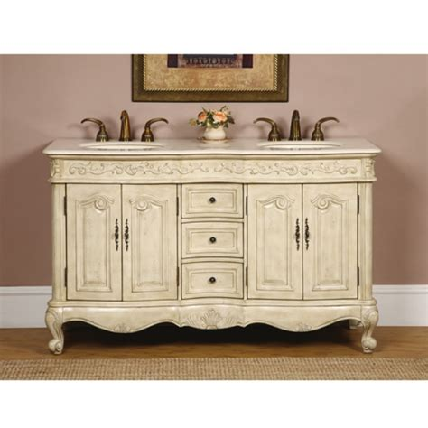 double sink bathroom vanity  antique white