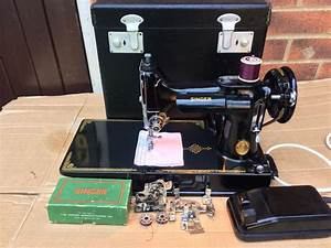 1951 Vintage Singer 221k Portable Featherweight Sewing