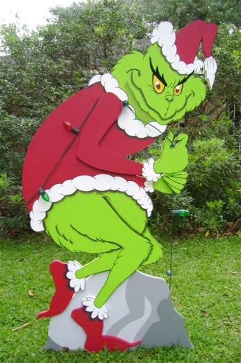 grinch stealing lights the grinch in 3d yard yard made by