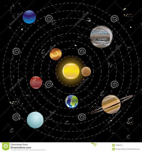 planeten und sonne von unserem sonnensystem vektor