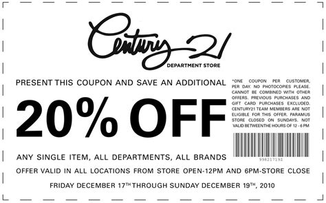 78877 Lxrco Coupon by Coupons For Century 21 Clothing Browsesmart Deals