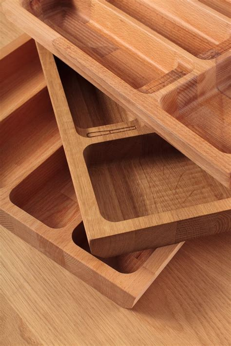 oak solid wood cutlery drawer inserts worktop express