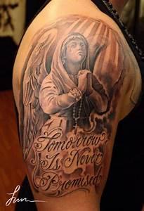 65+ Angel Tattoos For Men Shoulder