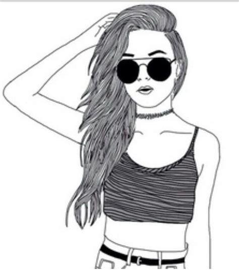 dessin facile fille noir et blanc dessin mode fille dessin dessin fille swag dessin facile fille et dessin