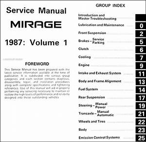 1987 Mitsubishi Mirage Repair Shop Manual Set Original