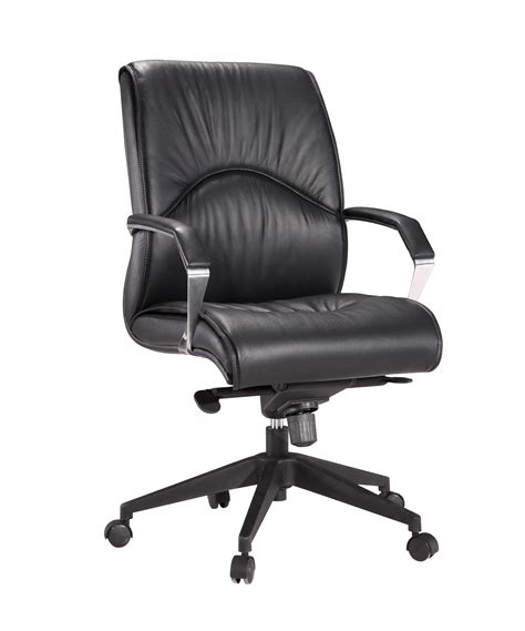 leather executive mid back chair with 350 lbs weight capacity