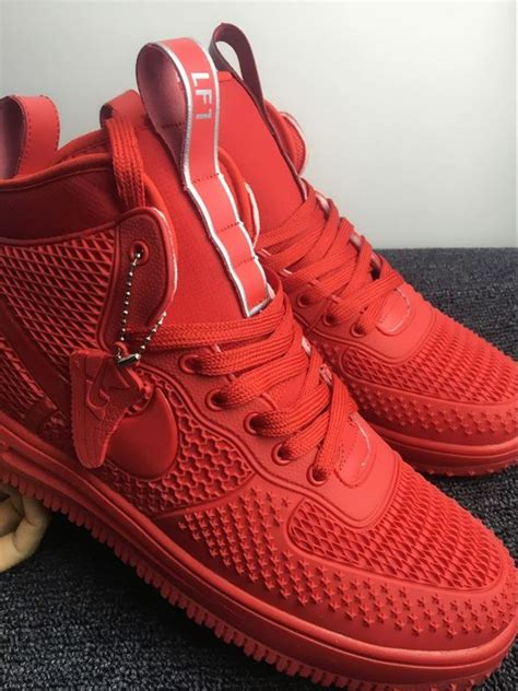 nike air force  high kpu  red men shoes febbuy