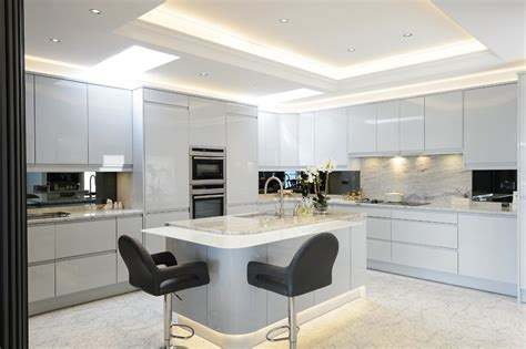 light grey gloss kitchen room makers room makers ltd bespoke kitchens and 6991