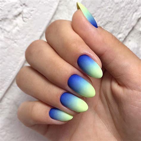 fabulous neon colors ombre nails