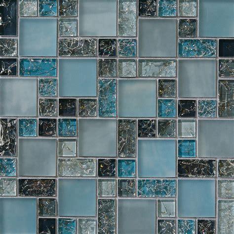 Mosaic Backsplash Kitchen by Sle Blue Crackle Glass Mosaic Tile Backsplash Kitchen
