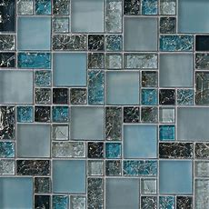 1sf Blue Crackle Glass Mosaic Tile Backsplash Kitchen