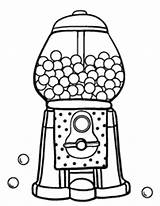 Gumball Machine Coloring Gum Pages Bubble Printable Template Coloringcafe Pdf Drawing Worksheet Sheets Sheet Clipartmag Templates Colouring Sketch Patterns Preschool sketch template