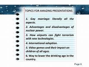 interesting presentations topics