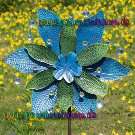 Gartendeko Blau by Windspiel Windrad Metall Gartenstecker Gartendeko