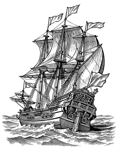 Simplicity on Behance | Ink in 2019 | Ship paintings, Ship drawing, Ship art