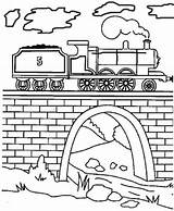 Coloring Tunnel Engine Pages Train James Tank Steam Thomas Print Drawing Draw Drawings Friends V8 Paint 49kb 400px Mavis Getdrawings sketch template