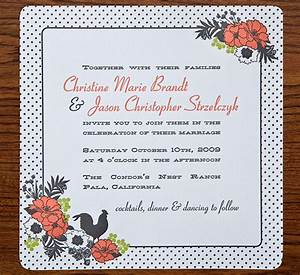 christine jason39s polka dot and floral wedding invitations With wedding invitations zurich switzerland