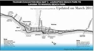 Maui Tsunami Evacuation Routes By Region Of Maui Hawaii