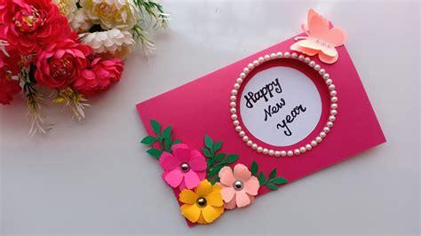 Beautiful Handmade Happy New Year 2019 Card Idea / DIY ...