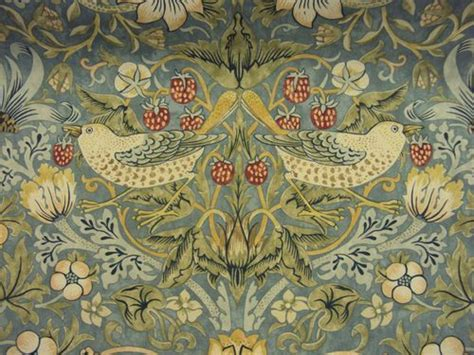 details about william morris red strawberry thief heavy
