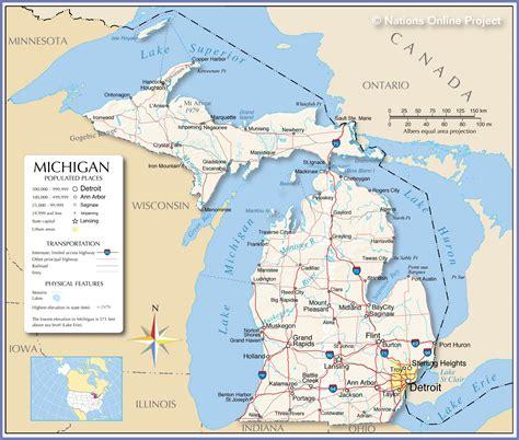 map  michigan michigan maps mapsofnet