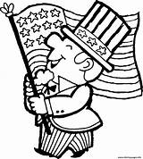 Flag Coloring American Pages Printable sketch template