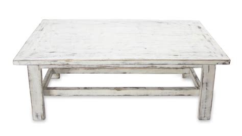 Crackle Coffee Table White Color