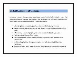 medical office administrative assistant job description