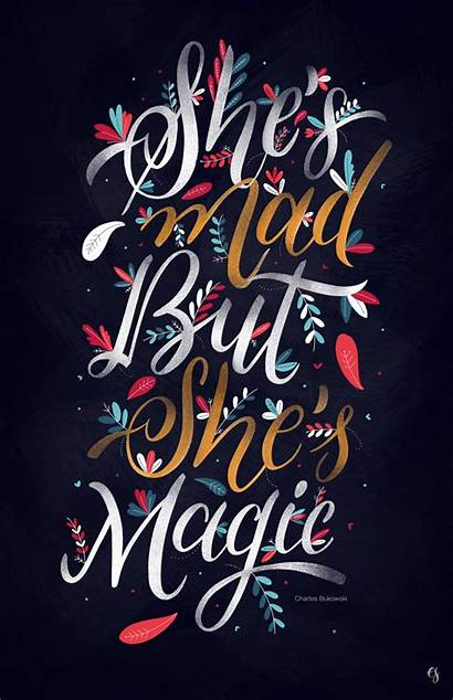 Typography Lettering Graphic Inspiration Quotes Magic Designs