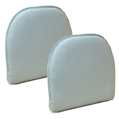 the gripper non slip pinewale chair cushions set of 2