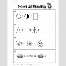 Critical Thinking Worksheet Grades K2 Mathematical Concepts  Education World