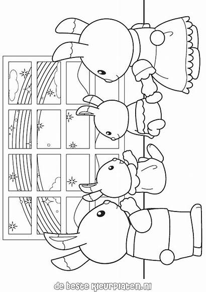 Calico Coloring Critters Sylvanian Pages Families Printable