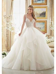 attractive beaded spaghetti straps bridal ball gown With wedding dresses com