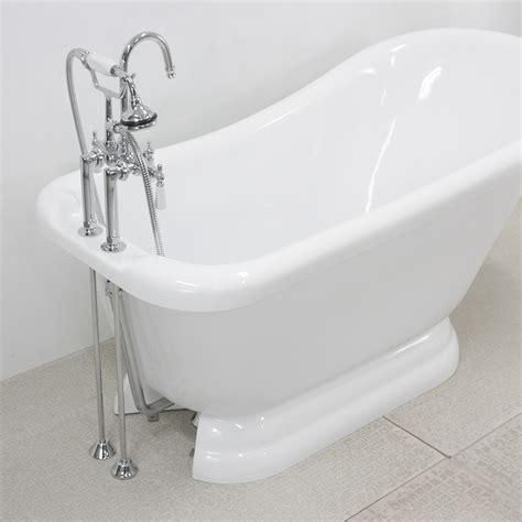 tub of 59 quot single slipper pedestal tub and faucet package