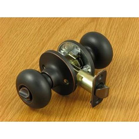 privacy door knob features  rich oil rubbed finish