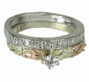 black hills gold and sterling silver wedding engagement cz With black hills silver wedding rings