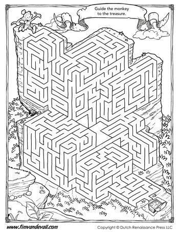 maze printable maze activity  kids