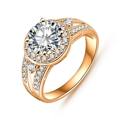 fine jewelry rings wholesale new design trendy gift rings 18k gold platinum plated aaa swiss