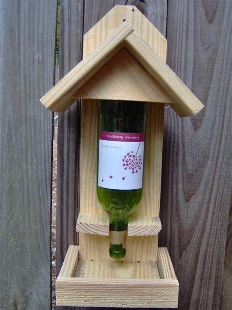 items similar  wine bottle bird feeder  etsy