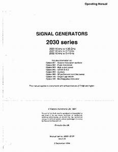 Marconi 2030 service manual mixecan for Document 2030 pdf