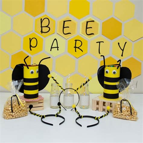 adorable bee themed craft party  kids