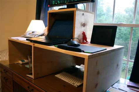 build a standing desk home depot build your own stand up desk from recycled wood homesfeed