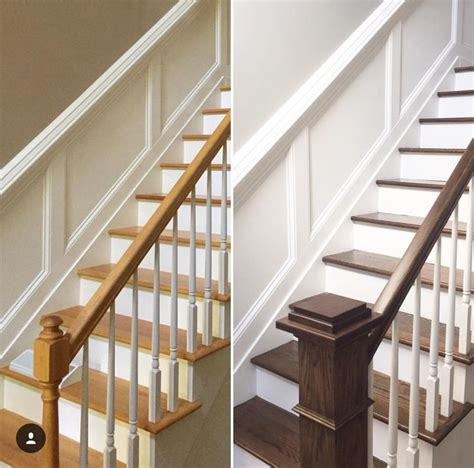 oak banister makeover staircase makeover home staircase