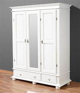 Holzschrank Weiß Streichen : v30 schrank kleiderschrank holzschrank dielenschrank mehrzweckschrank 3 t rig ~ Markanthonyermac.com Haus und Dekorationen