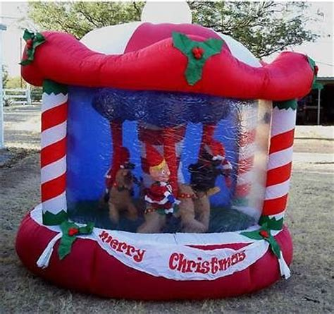 gemmy inflatable carousel merry   ft outdoor